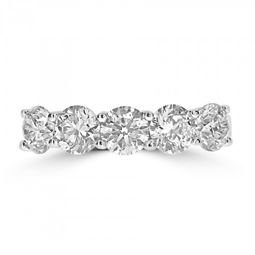 18W RBC 2.13ct Share Claw 5 Stone Ring