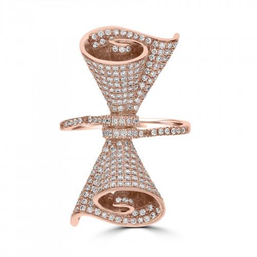 18RG Pavé Set Bow Design Ring